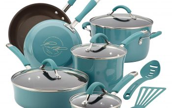 NEW LOW PRICE: Amazon – Save on Rachael Ray 12 Piece Cookware Set (Agave Blue) – Under $80!
