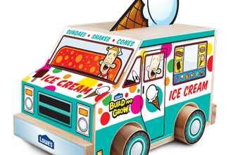 Lowe's Build and Grow Kids Clinic: Make a FREE Ice Cream Truck on 7/13