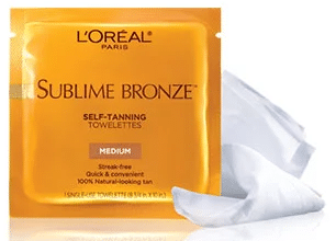 FREE L'Oréal Self-Tanning Towelettes Sample