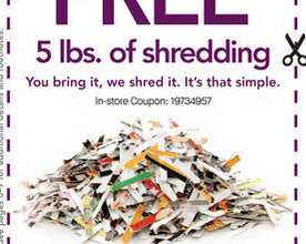 5 FREE Lbs. of Document Shredding at Office Depot/OfficeMax