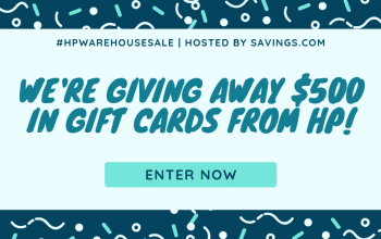 *Ends Soon* $100 HP Gift Card Giveaway – 5 Winners (Ends 4/30)