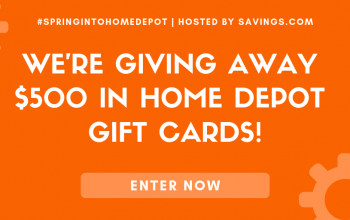 *Ends Today!* $50 Home Depot Gift Card Giveaway – 10 Winners (Ends 4/17)