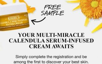 FREE Kiehl's Calendula Water Cream Sample