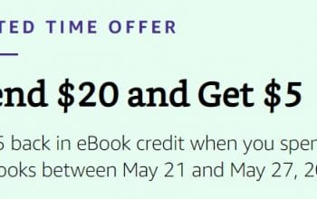 Get $5 Back in eBook Credit When You Spend $20 on eBooks (Ends 5/27)