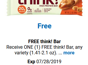 FREE think! Bar for Kroger (and affiliate) Shoppers!