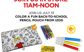 FREE Color a Fun Pencil Pouch at JCPenney on 7/13