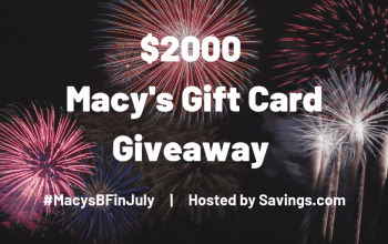 Macy's Gift Card Giveaway – 45 Winners! (Ends 7/14)