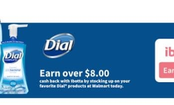 Dial® Products at Walmart: Earn over $8 Cash Back with ibotta