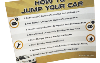FREE 'How to Jump Your Car Battery' Sticker