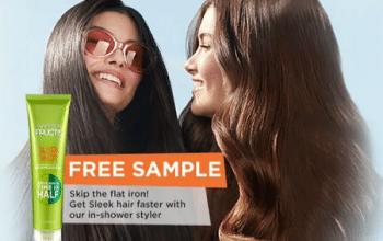 FREE Garnier Fructis Sleek Shot In-Shower Styler Sample
