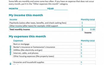FREE Make a Budget Worksheet