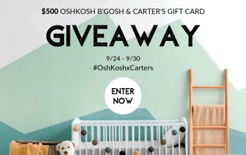 *ENDS SOON!* Giveaway: $50 Gift Card to Carter's or OshKosh B'Gosh – 10 Winners! (Ends 9/30)
