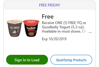 FREE YQ Or Goodbelly Yogurt for Kroger (and affiliate) Shoppers!