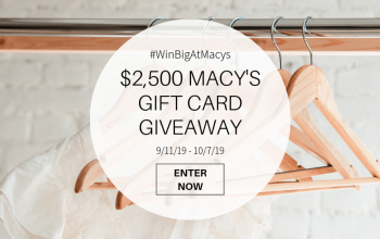 Giveaway: $500 Gift Card to Macy's – 5 Winners (Ends 10/7)