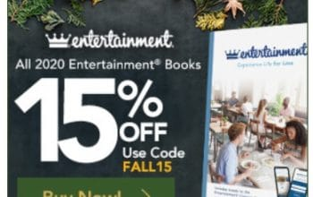 *Ends Soon!* 2020 Entertainment Books 15% Off + FREE Shipping! (Ends 10/1 at 3pm EST)