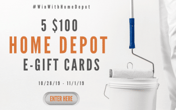 $100 Home Depot e-Gift Card Giveaway – 5 Winners! (Ends 11/1)