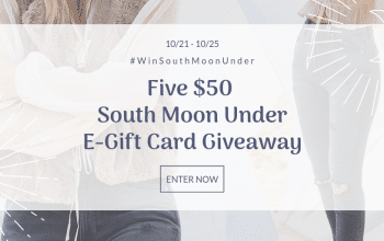 South Moon Under $50 e-Gift Card Giveaway – 5 Winners (Ends 10/25)