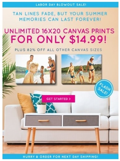 canvas prints deal