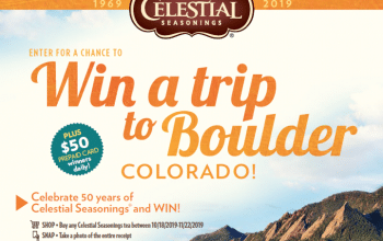 Celestial Seasonings® Tea Sweepstakes (Ends 11/29)