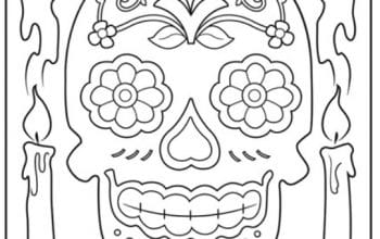 FREE Dia de los Muertos Coloring Page (Day of the Dead 2019: Oct. 31-Nov. 2)