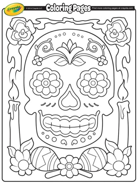 FREE Dia De Los Muertos Coloring Page (Day Of The Dead 2019: Oct
