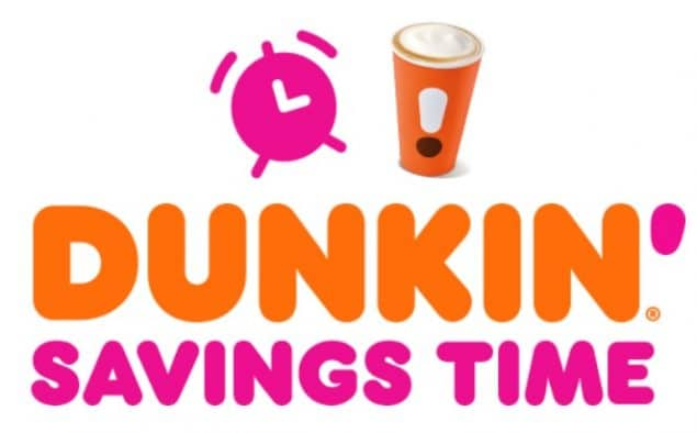 Dunkin' Donuts Savings Time Instant Win Game