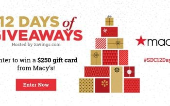 #SDC12Days of Giveaways – Day 12: $250 Macy's Gift Card
