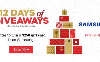 #SDC12Days of Giveaways – Day 10: $250 Samsung Gift Card