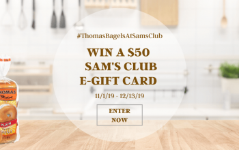 $50 Sam's Club e-Gift Card Giveaway – 8 Winners! (Ends 12/13)