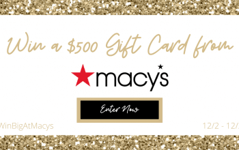 Macy's $500 Gift Card Giveaway – 4 Winners! (Ends 12/27)