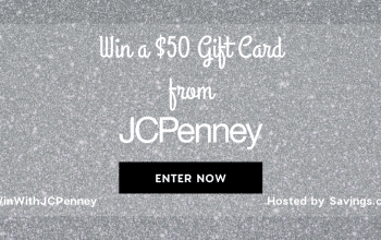 JCPenney $50 Gift Card Giveaway – 10 Winners! (Ends 12/8)