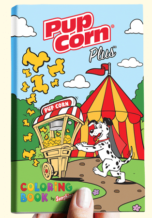 FREE Pup Corn Plus Printable Coloring Book and Mask
