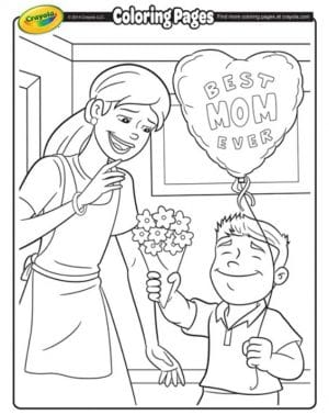 FREE Printable Mother's Day Coloring Page