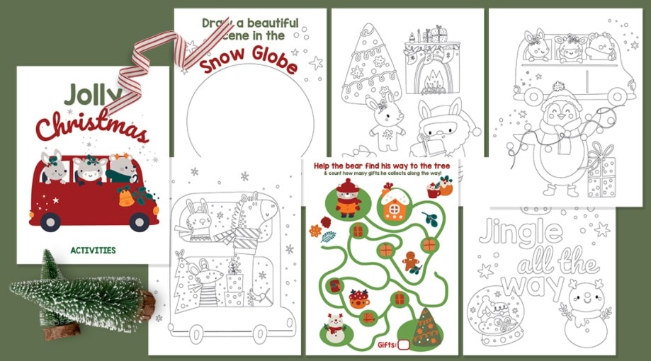 Free Printable Christmas Coloring Pages Activity Sheets The Frugal Free Gal