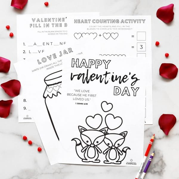 FREE 4-Page Valentine's Day Printable Pack