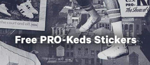 FREE PRO-Keds Stickers